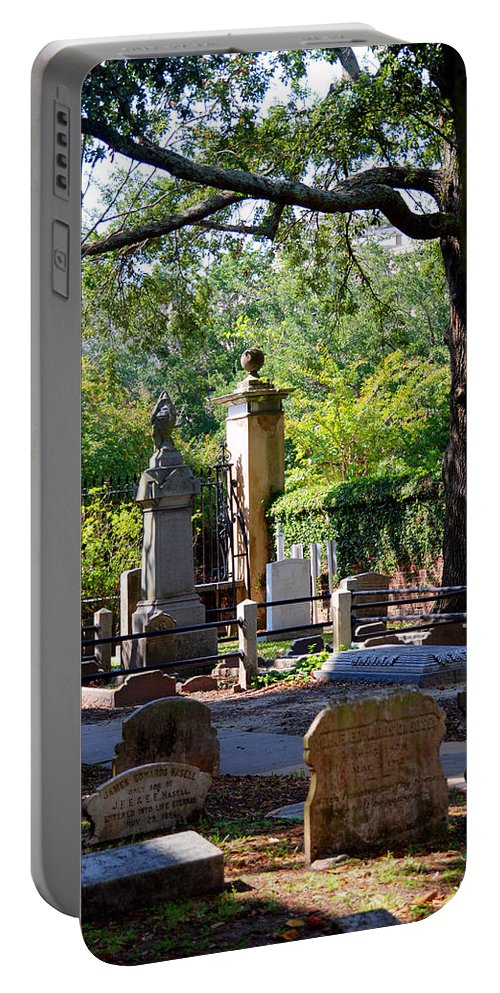 Photography Portable Battery Charger featuring the photograph Graveyard In Charleston by Susanne Van Hulst