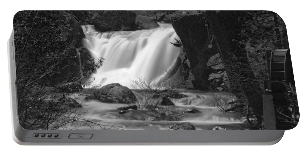 Waterfall Portable Battery Charger featuring the photograph Gray Eagle Falls by Mick Burkey