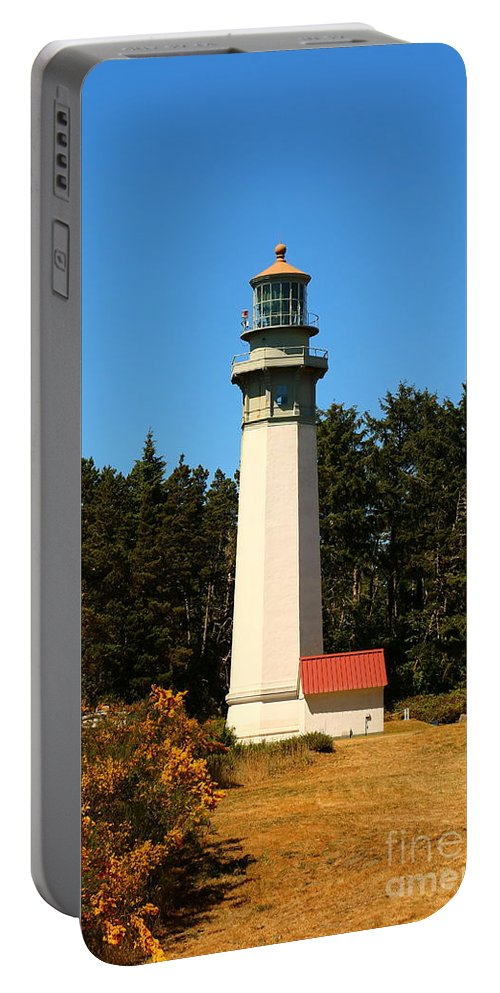 Harbor Portable Battery Charger featuring the photograph Grays Harbor Light Station by Christiane Schulze Art And Photography