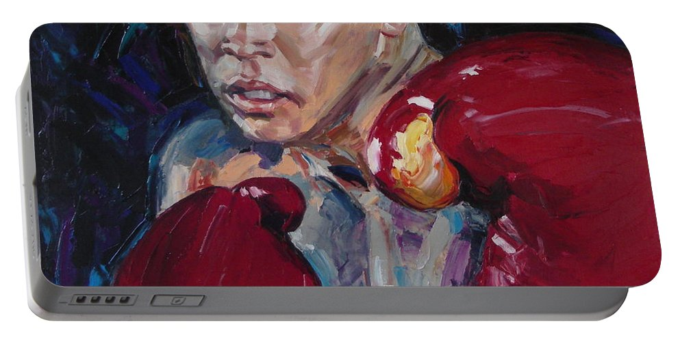 Figurative Portable Battery Charger featuring the painting Great Ali by Sergey Ignatenko