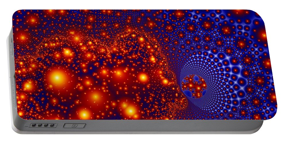 Fractal Art Portable Battery Charger featuring the digital art Great Balls Of Fire by Ron Bissett