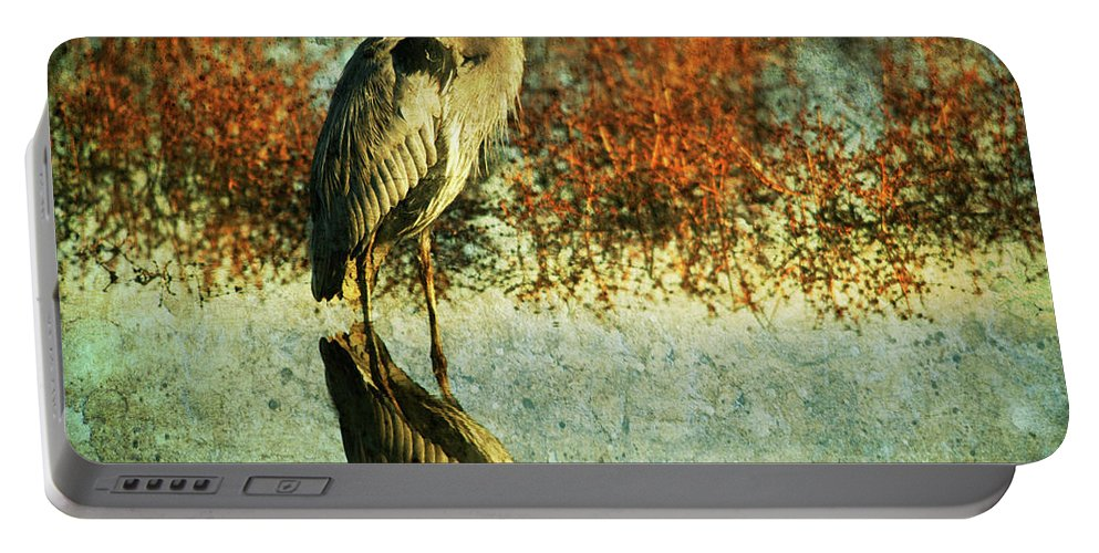 Portable Battery Charger featuring the photograph Great Blue Heron by Guy Crittenden