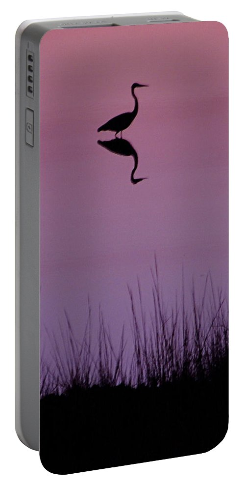Great Blue Heron Portable Battery Charger featuring the photograph Great Blue Heron IIi by Brett Winn