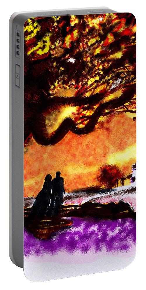 Great Oak Of Tara Portable Battery Charger featuring the digital art Great Oak Of Tara by Seth Weaver