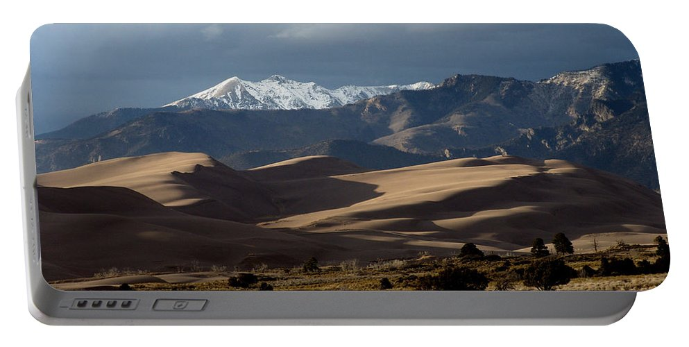 Sand Portable Battery Charger featuring the photograph Great Sand Dunes National Park by Carol Milisen