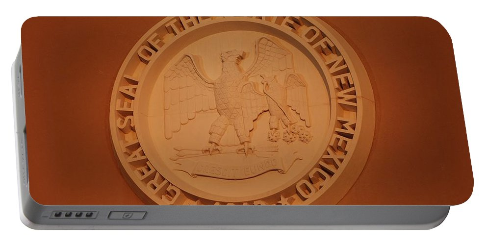 Eagle Portable Battery Charger featuring the photograph Great Seal Of The State Of New Mexico 1912 by Rob Hans
