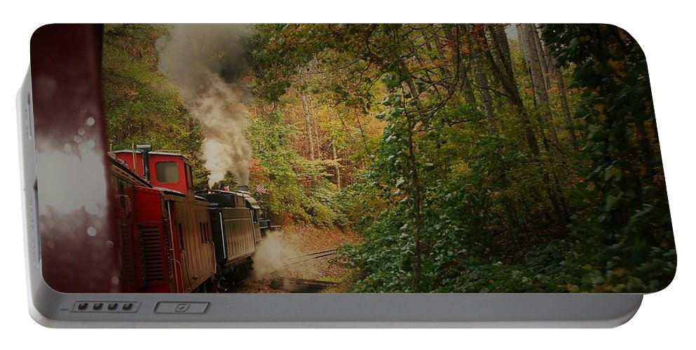 Great Smokey Mountain Railroad Portable Battery Charger featuring the photograph Great Smokey Mountain Railroad by Vice Photo