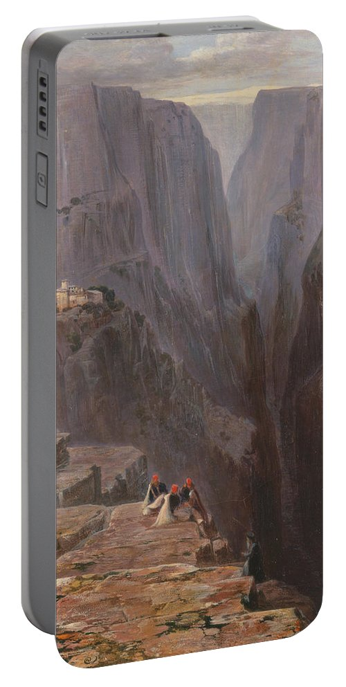 Zagori Portable Battery Charger featuring the painting Greece by Edward Lear