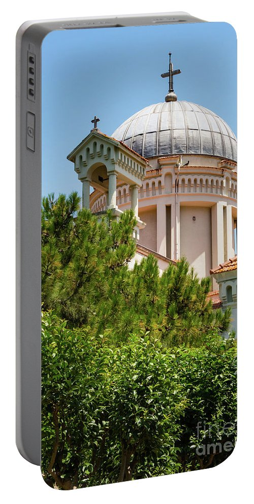 Burgazada Island Portable Battery Charger featuring the photograph Greek Orthodox Church by Bob Phillips