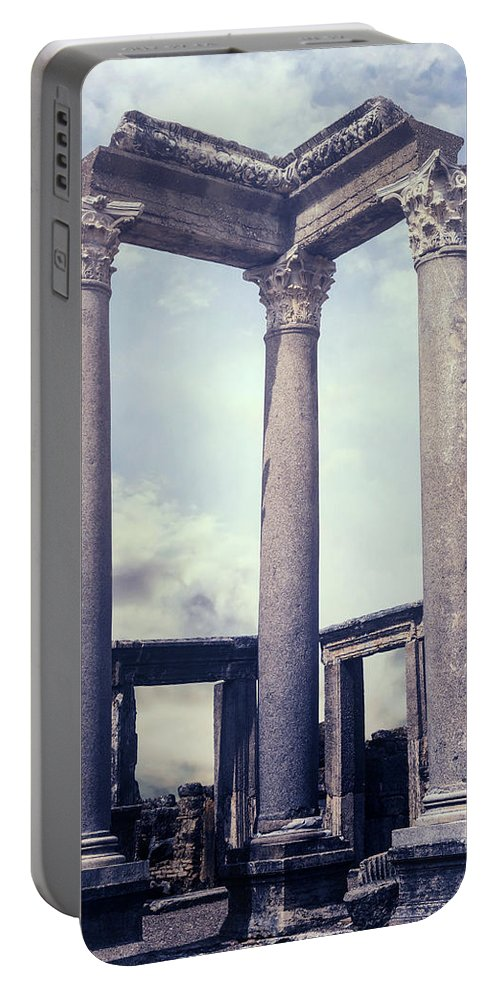 Greek Portable Battery Charger featuring the photograph Greek Temple by Joana Kruse