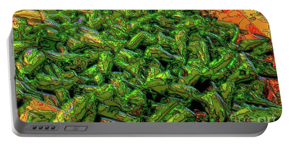 Vegetables Portable Battery Charger featuring the digital art Green Bean Montage by Ron Bissett