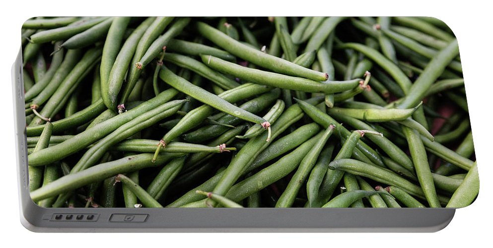 Food Portable Battery Charger featuring the photograph Green Beans by Kendra Susan