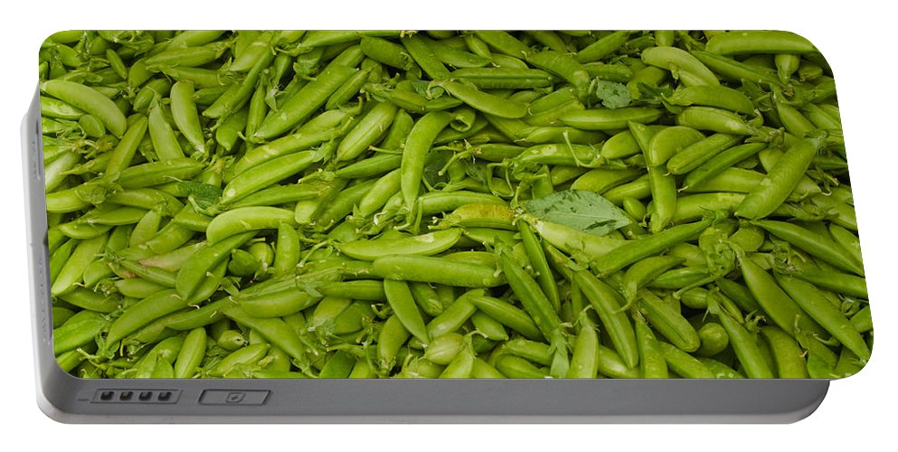 Green Portable Battery Charger featuring the photograph Green Beans by Thomas Marchessault