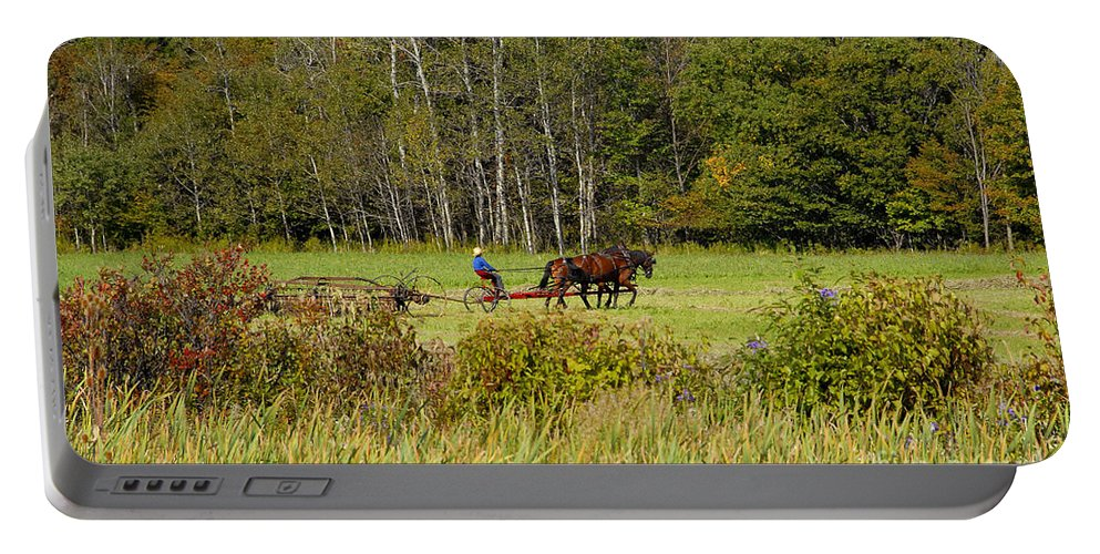 Green Farming Portable Battery Charger featuring the photograph Green Farming by David Lee Thompson