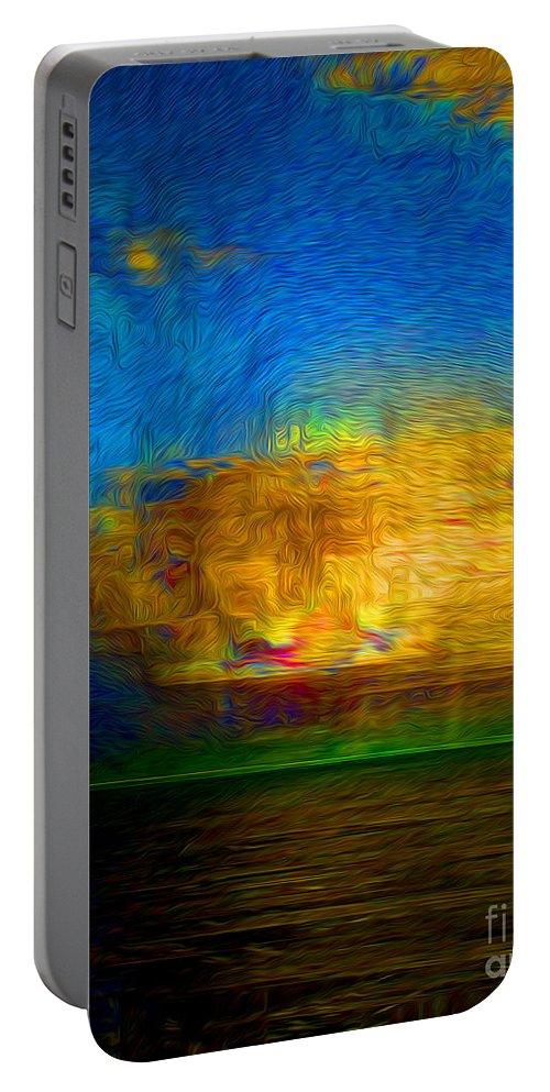 Paintings Photos Drawings Digital Art Mixed Media Painters Illustrators Photographers Digital Artists Abstract Architecture Fantasy Impressionism Landscape Portraits Science Fiction Still Life Surrealism Editorial Satire Statement Nature Artificial Mechanical Organic Portable Battery Charger featuring the mixed media Green Flash by Kevin Keeling