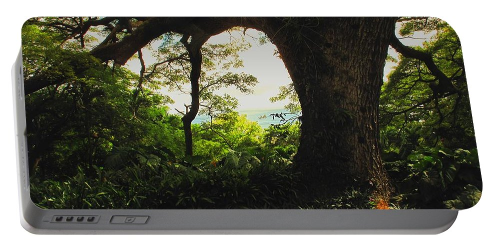 Tropical Portable Battery Charger featuring the photograph Green Giant by Ian MacDonald