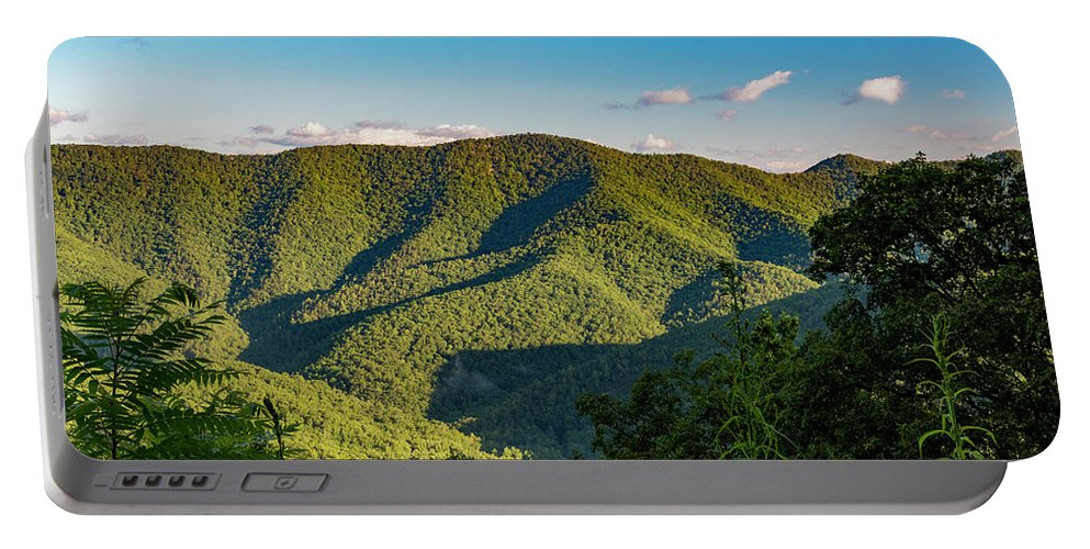 Landscape Portable Battery Charger featuring the photograph Green Mountainside by Shanna Robillard