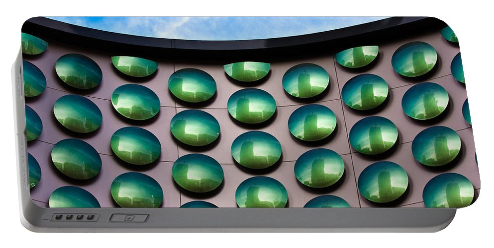 Building Portable Battery Charger featuring the photograph Green Polka-dot Curve by Christopher Holmes