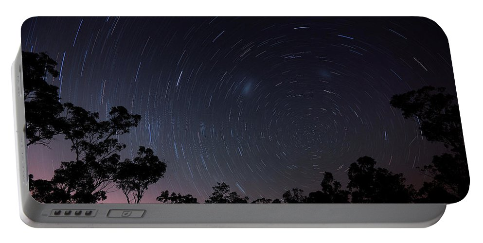 Greenbank Start Trail Portable Battery Charger featuring the photograph Greenbank Start Trail by Charles King