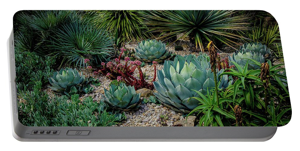 Summer Portable Battery Charger featuring the photograph Greens by Mona Mo