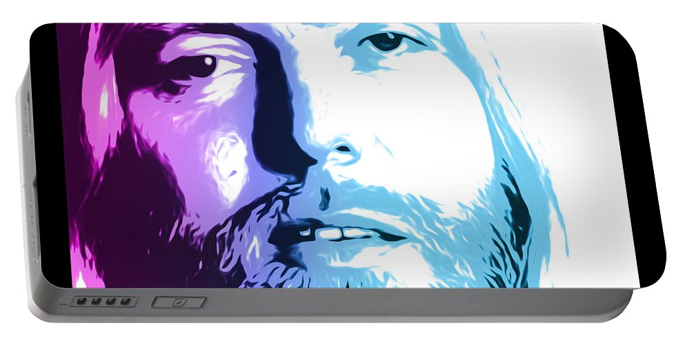 Allman Portable Battery Charger featuring the digital art Gregg Allman 1947 2017 by Greg Joens