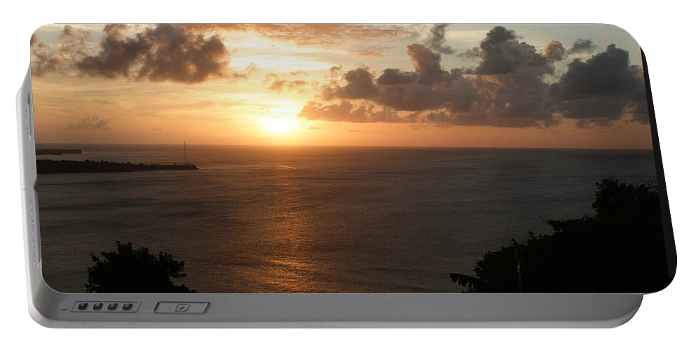 Grenada Portable Battery Charger featuring the photograph Grenadian Sunset I by Jean Macaluso