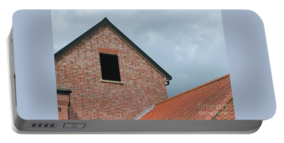 Brick Portable Battery Charger featuring the photograph Grey Skyline by Ann Horn