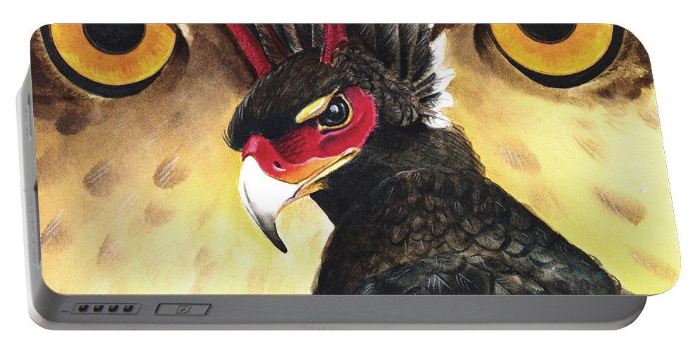 Griffin Portable Battery Charger featuring the painting Griffin Sight by Melissa A Benson