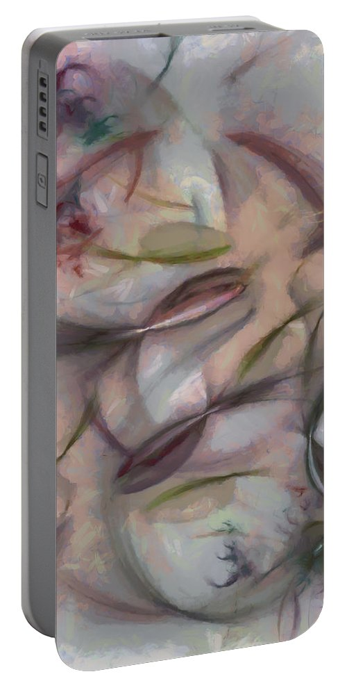 Ndr099 Portable Battery Charger featuring the painting Gripers Mental Picture Id 16097-210521-37150 by S Lurk
