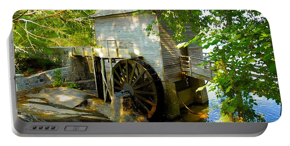 Grist Mill Portable Battery Charger featuring the photograph Grist Mill by David Lee Thompson