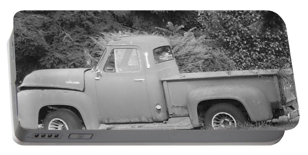 Truck Portable Battery Charger featuring the photograph Grounded Pickup by Pharris Art