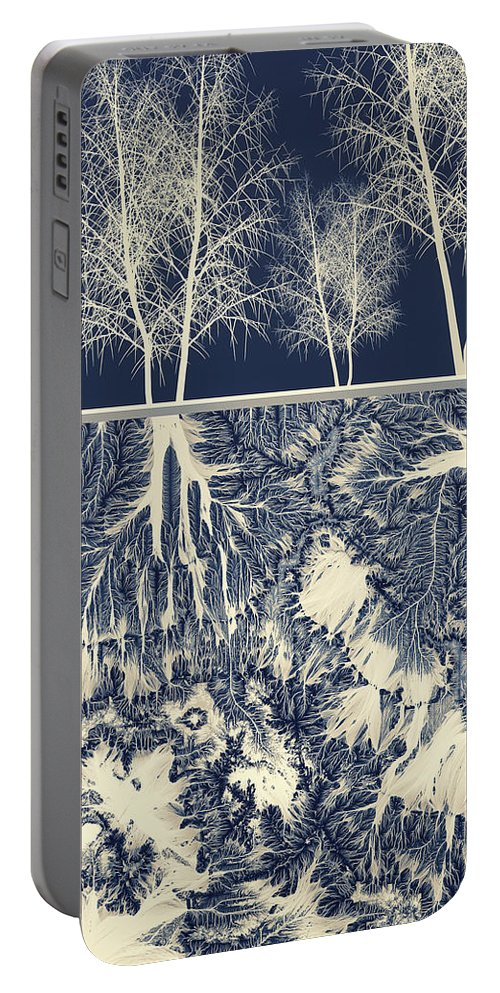 Abstract Portable Battery Charger featuring the digital art Grounded by Spacefrog Designs