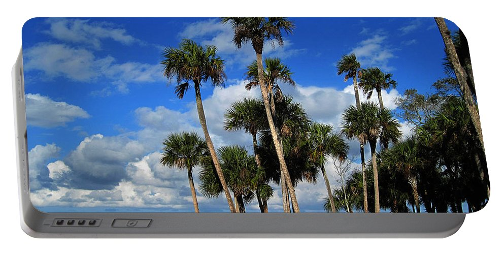 Photography Portable Battery Charger featuring the photograph Group Of Palms by Susanne Van Hulst