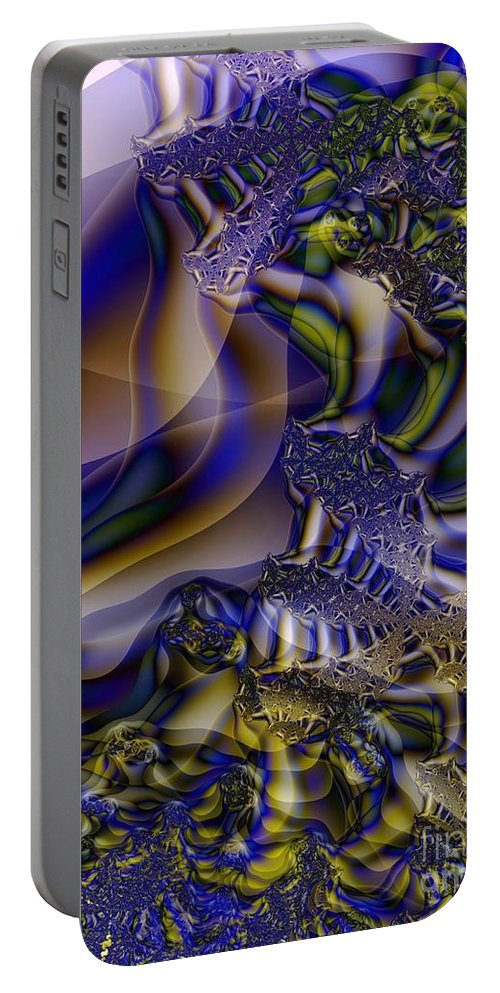 Segmentation Portable Battery Charger featuring the digital art Growth Segmentation by Ron Bissett