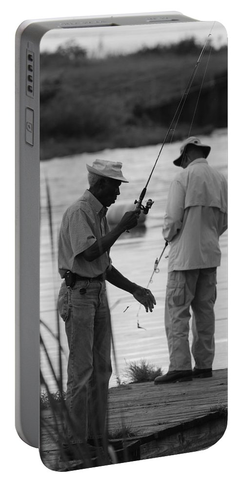 Men Portable Battery Charger featuring the photograph Grumpy Old Men by Rob Hans