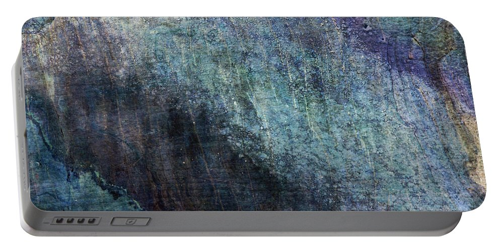 Grunge Portable Battery Charger featuring the photograph Grunge Texture Blue Ugly Rough Abstract Surface Wallpaper Stock Fused by TextureX