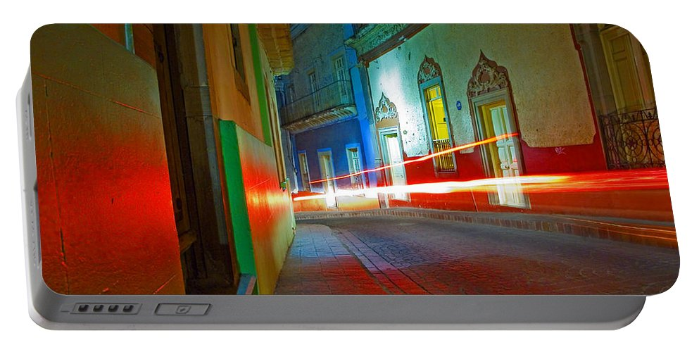 Shadow Portable Battery Charger featuring the photograph Guanajuato Night by Skip Hunt
