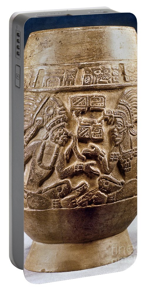 900 Portable Battery Charger featuring the photograph Guatemala: Mayan Vase by Granger