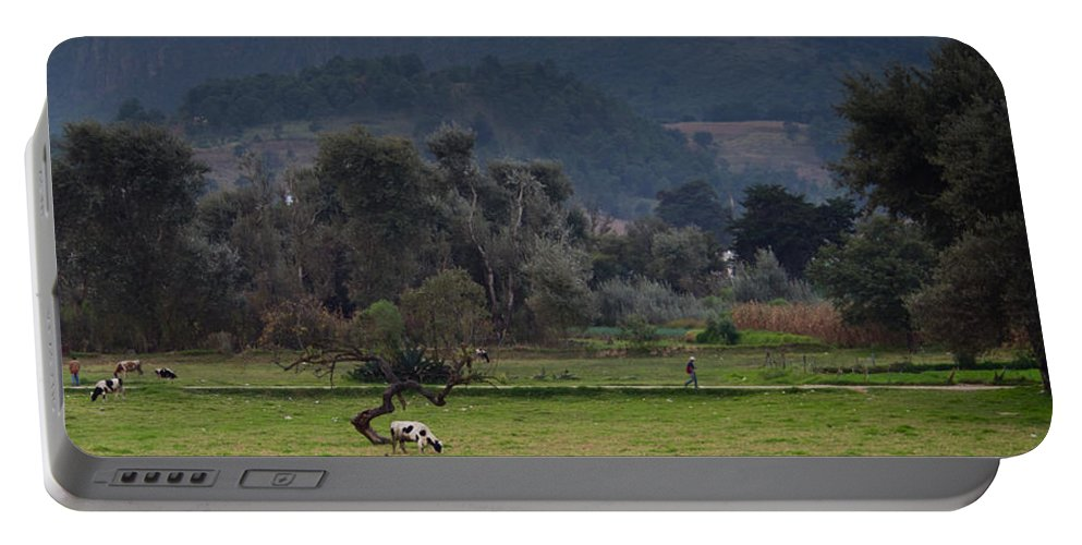 Guatemala Portable Battery Charger featuring the photograph Guatemalan Pastoral Scene 2 by Douglas Barnett