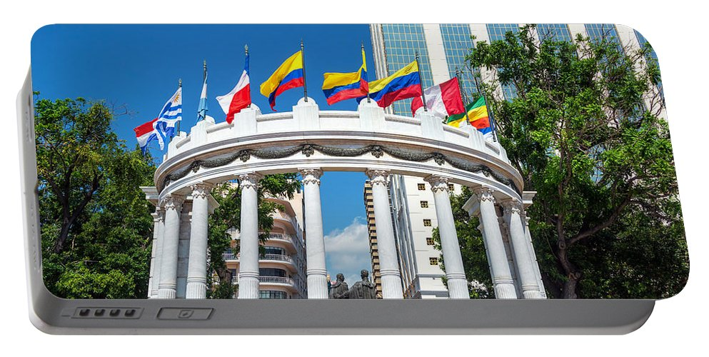 Guayaquil Portable Battery Charger featuring the photograph Guayaquil Rotonda by Jess Kraft