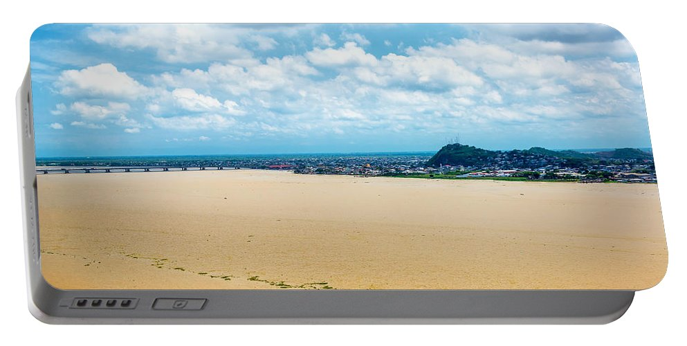 Guayaquil Portable Battery Charger featuring the photograph Guayas River View by Jess Kraft