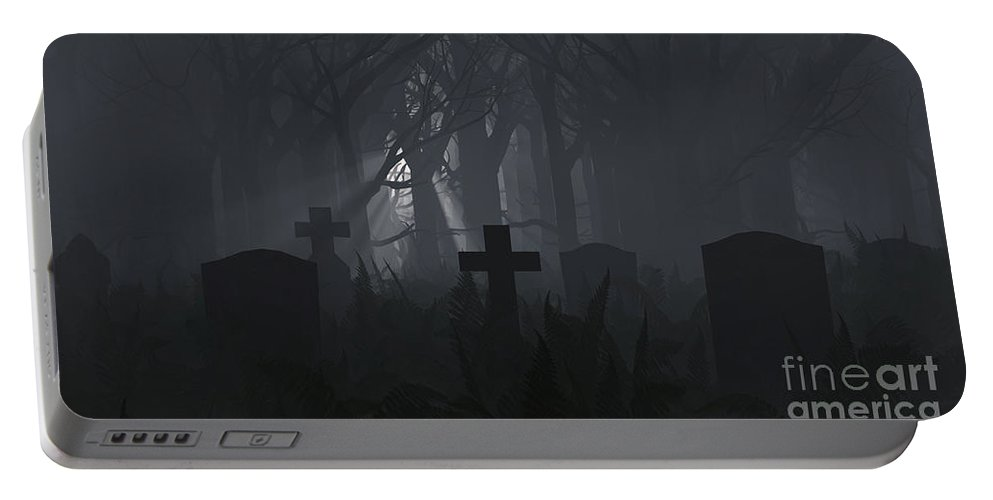 Death Portable Battery Charger featuring the digital art Guiding Light by Richard Rizzo