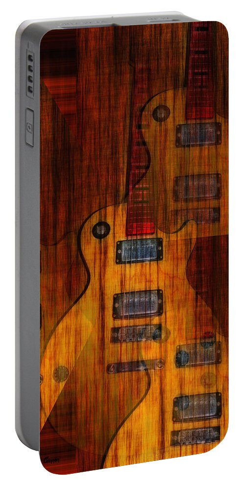 Les Paul Portable Battery Charger featuring the photograph Guitar Army by Bill Cannon