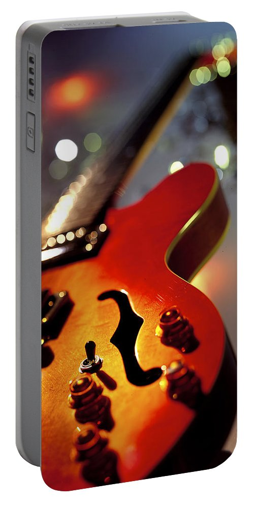 Guitar Portable Battery Charger featuring the photograph Guitar by Robert Ponzoni