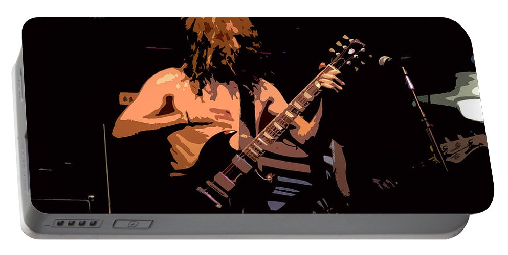 Music Portable Battery Charger featuring the painting Guitar Player by David Lee Thompson
