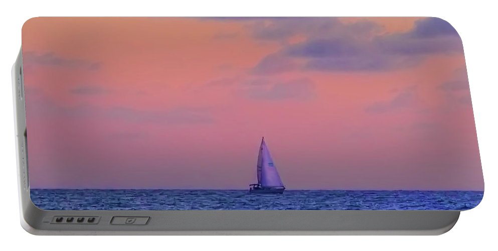 Gulf Portable Battery Charger featuring the photograph Gulf Coast Sailboat by Bill Cannon