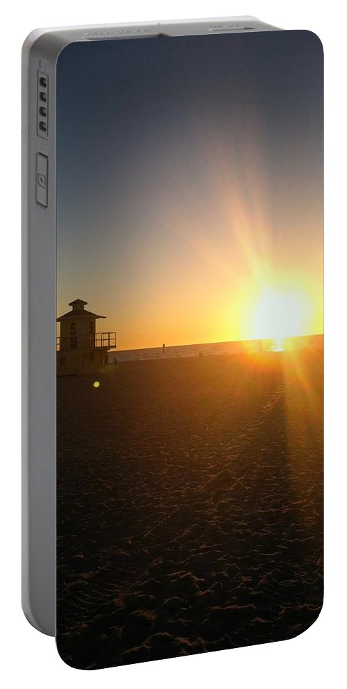 Beach Portable Battery Charger featuring the photograph Gulf Coast Sunset by Julia Breheny