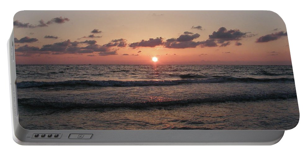 Gulf Portable Battery Charger featuring the photograph Gulf Sunset by Bill Cannon