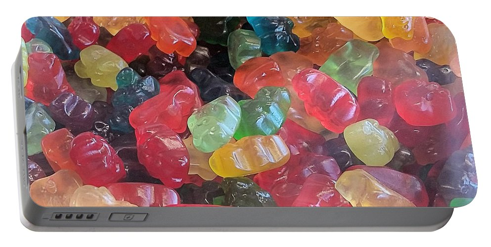 Gummy Bears Portable Battery Charger featuring the photograph Gummy Bears by Robert Banach