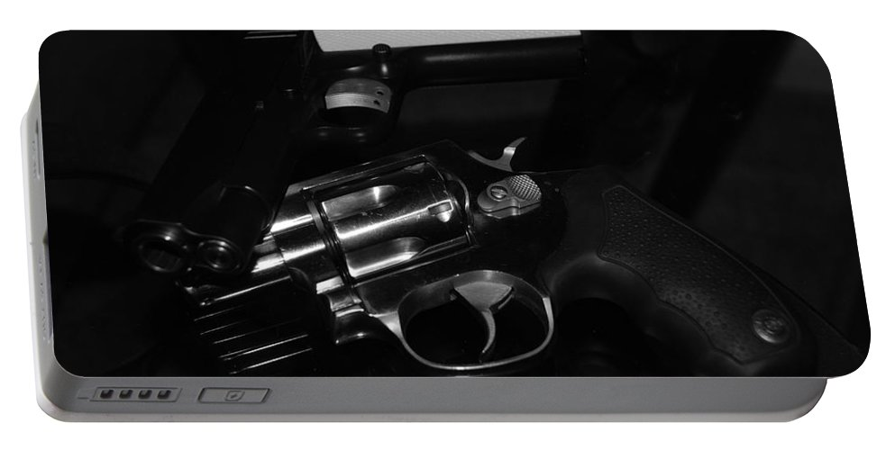 Guns Portable Battery Charger featuring the photograph Guns And More Guns by Rob Hans